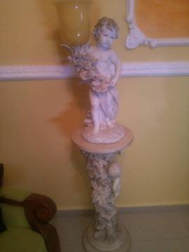 lampara con base de angeles