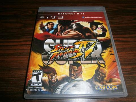 SUPER STREET FIGHTER IV GREATEST HITS PS3 USADO INTACTO