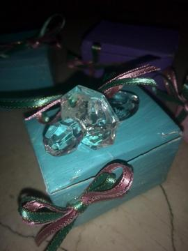 Recuerdos Chupones De Cristal Con Caja Y Decoracion