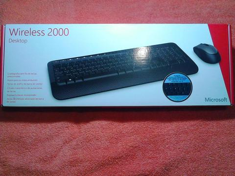 Combo de Teclado y Mouse Wireless 2000