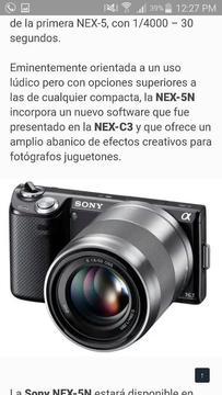Camara Digital Sony Nex 5n de 16 Mp