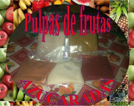 PULPAS DE FRUTAS AZUCARADAS DULCESSS