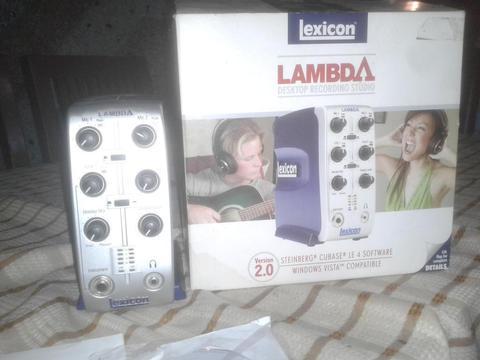 Interface De Audio Lexcion Lambda Phantom Power 48v
