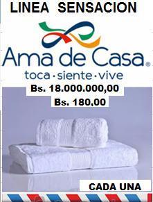 SET AMANZON DE 2 TOALLAS SENSACIÓN AMA DE CASA 132 X 68 Cm BAÑO BLANCA